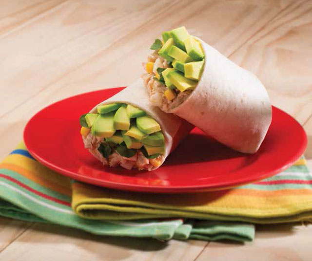 Egg Burritos With Tuna, Avocado Corn