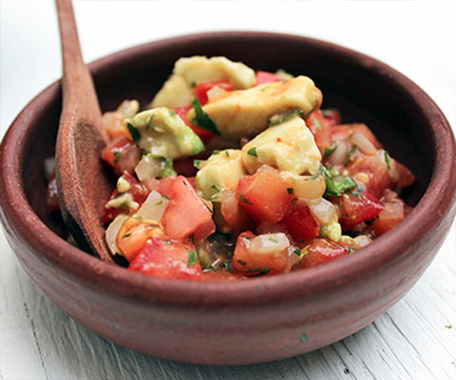 Pebre Sauce with Avocado