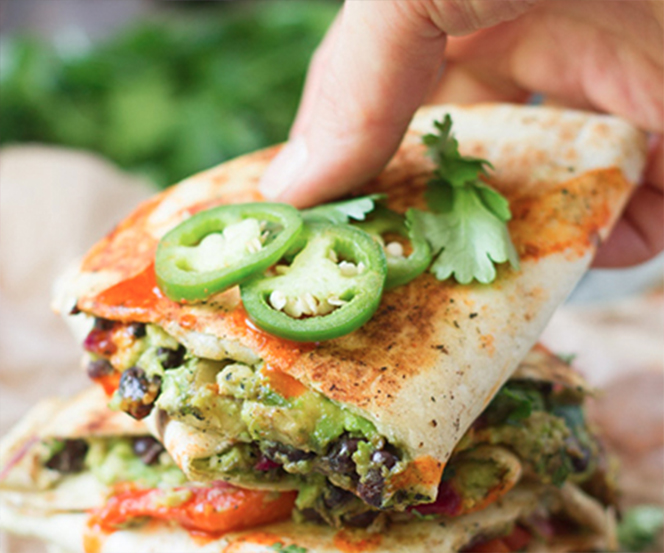 Loaded Avocado Quesadillas