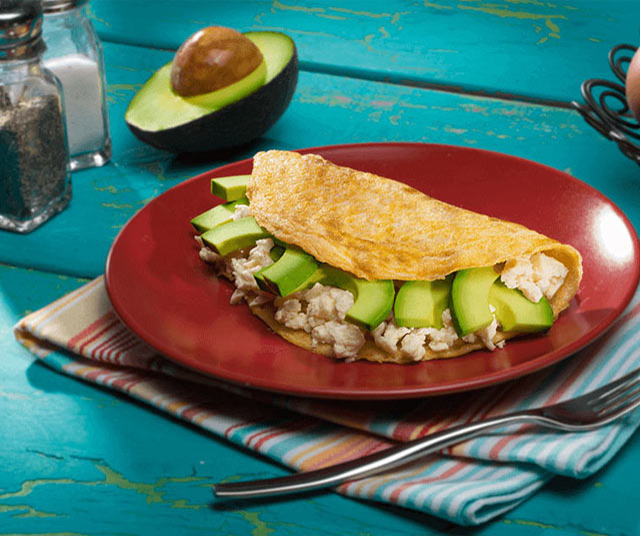 Omelet With Avocado And Fresh Cheese