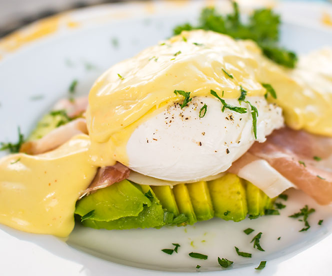 Avocado Eggs Benedict